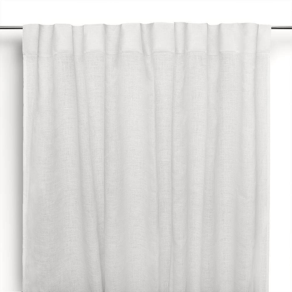 Tende Di Lino Bianche.Tenda A Bastone In Lino Moderna Bianco Panna Cuore Di Lino
