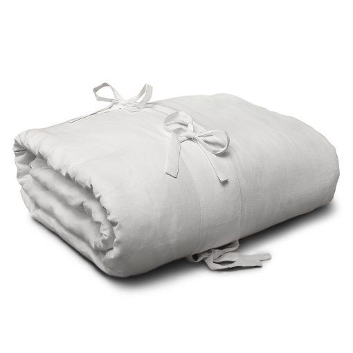 Copripiumino in lino Lacci bianco panna
